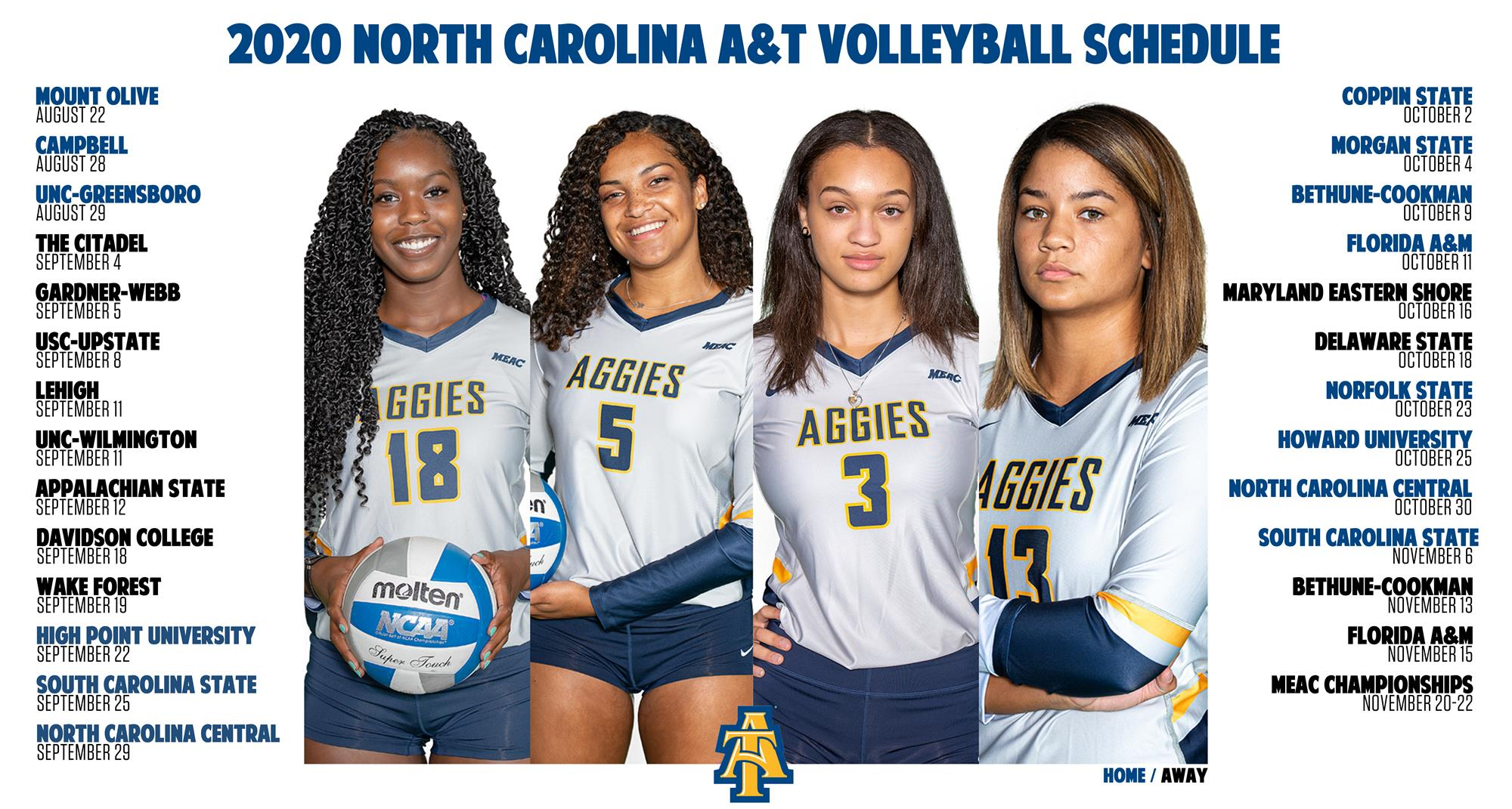 Aggies Release 2020 Volleyball Schedule North Carolina A T